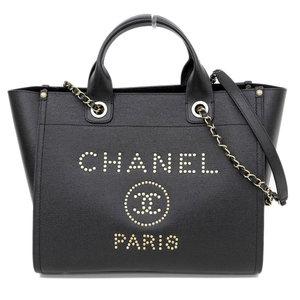 41527047dbd5 Genuine CHANEL Chanel grain calf shopping bag gold hardware A57069 26  series leather