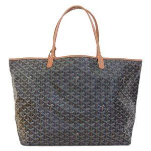 Goyard Genuine GO YARD Goyar Saint Louis GM Tote Bag Black Leather