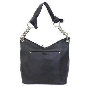 Real JIMMY CHOO Jimmy Chew Leather One Shoulder Bag Black