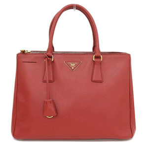 Authentic PRADA Prada Saferian 2 Way Bag Hand Shoulder Red Leather