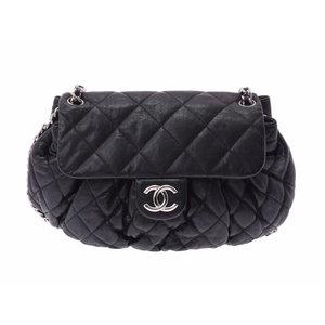 シャネル(Chanel) シャネル チェーンアラウンド ショルダーバッグ 黒 SV金具 レディース ラムスキン Aランク 美品 CHANEL
