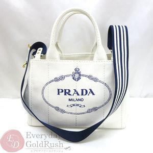 Mint beauty goods PRADA Prada Mini Kanapa 1BG439 2way handbag white canvas