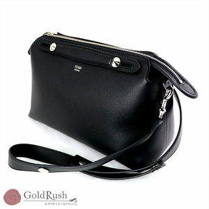 Unused item FENDI Fendi Visorway Small Leather Black Silver Hardware Mini Bag 2 Way Women's