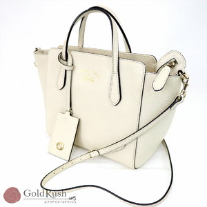 7aacebdfc41512 GUCCI Gucci 2 Way shoulder bag handbag swing mini leather 368827 Ivory  ladies
