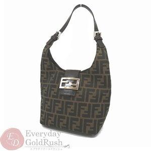 Fendi FENDI Zucker handle handbag shoulder bag Khaki × black