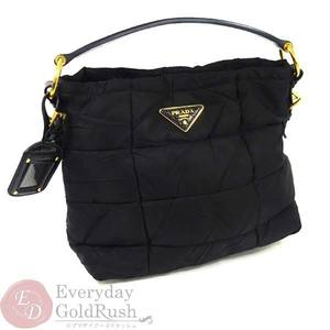 PRADA Prada Handbag Nylon Black Quilting Women's