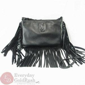 SAINT LAURENT YSL Yves Saint Laurent Fringe Leather Shoulder Bag