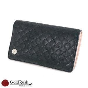 CHANEL Chanel long wallet black × pink micromatase ladies