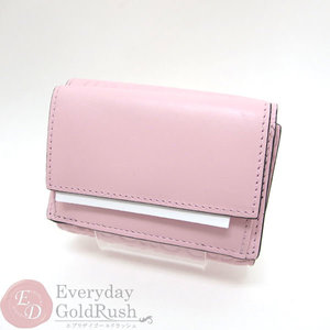 Beauty goods LOEWE Loewe trifold folded compact wallet pink leather ladies