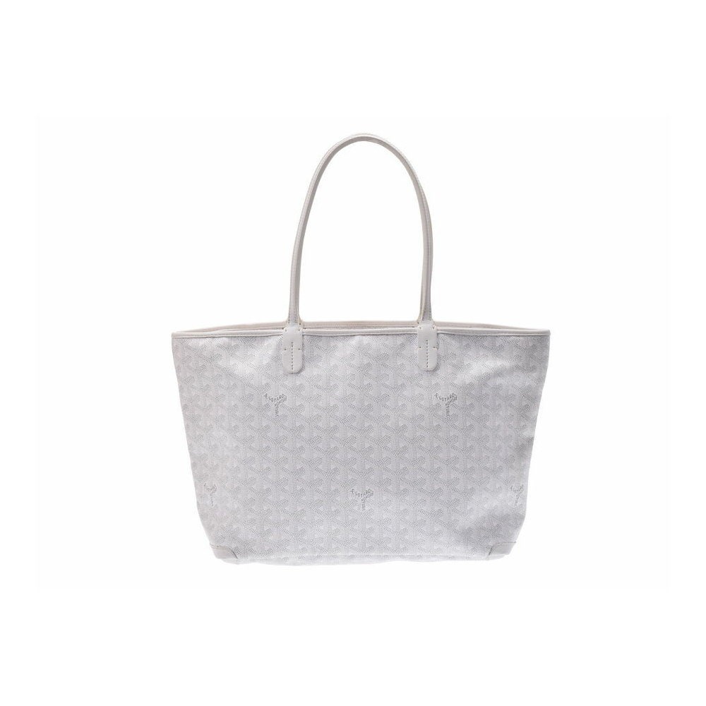 Goyard Artua PM White Men's Women's PVC Leather Tote Bag Initial Including B Rank GOYARD Used Ginza