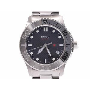 グッチ ダイバー 黒文字盤 126.2 メンズ SS クォーツ 腕時計 Aランク 美品 GUCCI 中古 銀蔵