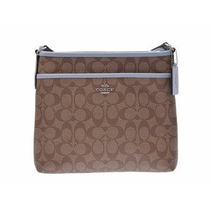 817bc2841 Coach shoulder bag Beige type / light blue F29210 ladies PVC leather outlet  unused beautiful goods