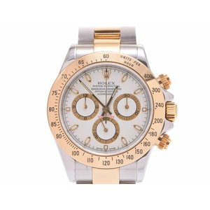 ROLEX Daytona 116523 Ivory dial P number Men's YG / SS automatic winding wristwatch A rank beautiful goods Galla secondhand silver stock