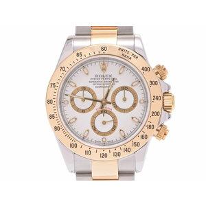 ロレックス デイトナ 116523 アイボリー文字盤 Y番 メンズ YG/SS 自動巻 腕時計 Aランク 美品 ROLEX ギャラ 中古 銀蔵