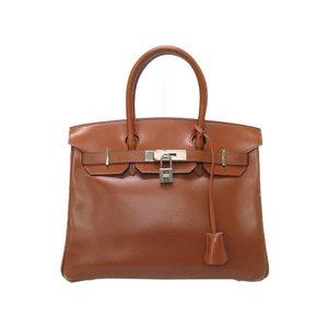 Hermes Birkin 30 Box Calf Noazette Silver Hardware □ E Engraved Handbag Bag Brown 0069 HERMES