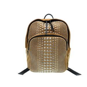 Giuseppe Zanotti Suede Studs Backpack · Daypack Pack Back Brown 0038 GIUSEPPE ZANOTTI