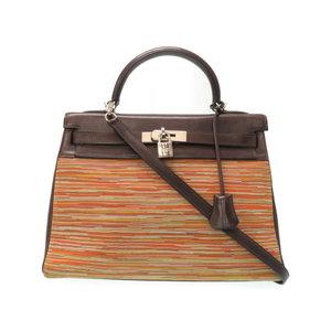 Hermes Kelly 32 vibrato / Balenia new fitting 2 WAY shoulder handbag □ G stamp 0064 HERMES with strap