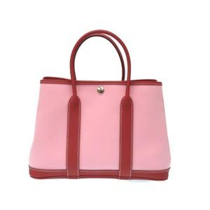 Hermes Garden Party 30 TPM Handbag Toile Officier / Country Rose Sakura T Engraved 0077 HERMES