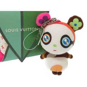 Louis Vuitton Petit Panda Cell Phone Strap Charm Key Holder Multicolor Murakami Takashi LV 0061 LOUIS VUITTON
