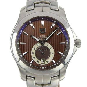 Genuine TAG HEUER Heuer Link Men's Automatic Watch Brown Dial WJF211C