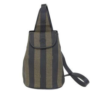 Real FENDI Fendi Pecan One Shoulder Bag PVC Brown Leather