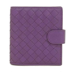 Real Bottega Veneta Intorechat Coin Case Leather Purple