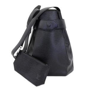 1a33d5e6a4af Authentic Louis Vuitton Episack Depot Shoulder Bag Black Noir Leather
