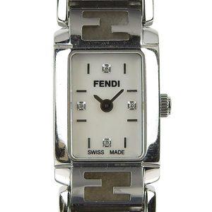 Real FENDI Fendi 4P Diamond Ladies Quartz Wrist Watch 1200L