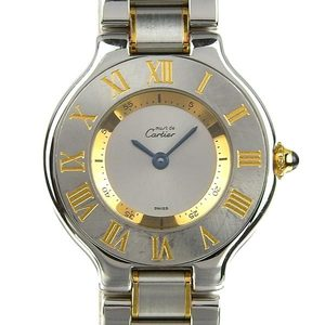 Genuine CARTIER Cartier Mast 21 Combi Ladies Quartz Wrist Watch 1340