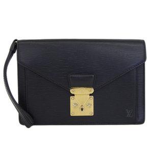 d516d9a51fc4 Authentic Louis Vuitton Epocortette · Serie Dragonne Second Bag Black M  52762 Leather