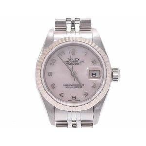 Rolex Datejust shell dial 79174NA K number L Womens WG / SS automatic winding wristwatch A rank beautiful goods ROLEX secondhand silver store