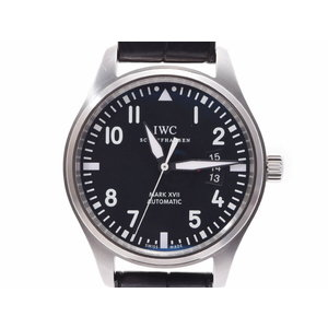 IWC パイロットウォッチ マーク17 黒文字盤 IW326501 メンズ SS/革 自動巻 腕時計 Aランク 美品 箱 ギャラ 中古 銀蔵