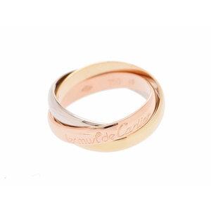 カルティエ(Cartier) カルティエ トリニティリング YG/WG/PG スリ―カラー 5.8g #49 レディース 指輪 Aランク 美品 CARTIER 中古 銀蔵
