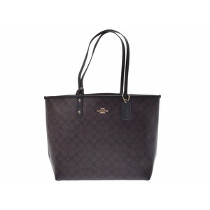 Coach Reversible Tote Bag Brown / Black F 36658 Women's PVC Unused COACH Pouch Used Ginza