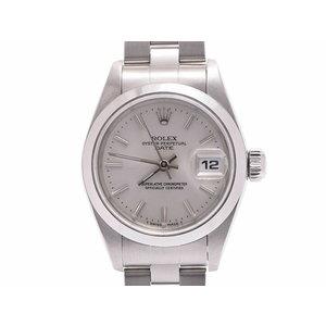 ロレックス パーペチュアル シルバー文字盤 69160 U番 レディース SS 自動巻 腕時計 Aランク 美品 ROLEX 中古 銀蔵
