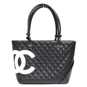 Chanel CHANEL Cambonline Large Tote Bag A 25169 Black × White Ladies