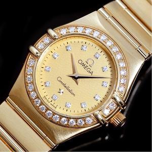 Omega OMEGA Constellation 1167.15 Quartz gold pure diamond champagne ladies watch finished