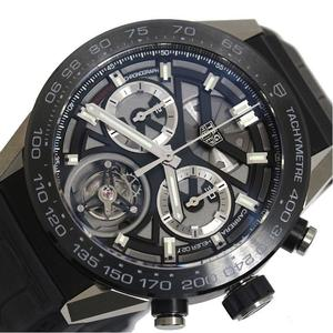 TAG Heuer HEUER Carrera Caliber 02T Tourbillon CAR 5 A 8 Y Automatic Skeleton Men's Watch