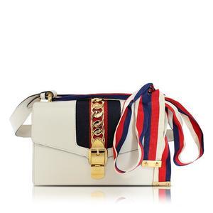 Gucci GUCCI Silvi Small Shoulder Bag 421882 Off White Ladies