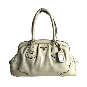 Prada PRADA Antique Frame Handbag BR3508 VIT.DAINO TALCO Women's