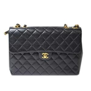Chanel CHANEL Matrasse Chain Shoulder Bag Caviar Skin Black Gold Hardware