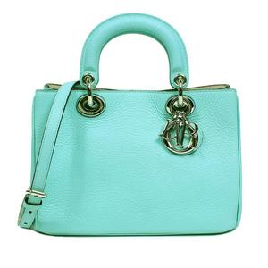 Christian Dior Diorissimo 2 WAY Handbag M0915 Turquoise Blue Women's