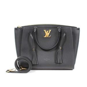 Louis Vuitton LOUIS VUITTON calf leather rock meat M54569 black shoulder bag