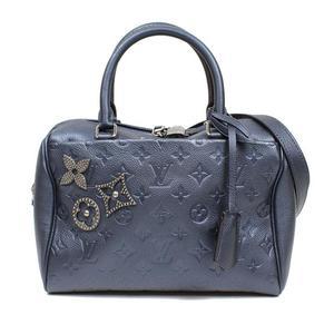 Louis Vuitton LOUIS VUITTON Monogram · Anplant Speedy Band Riere 25 M43740 Dark Blue Handbag Women's