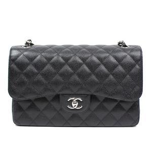 Chanel CHANEL Matrasse 30 W flap chain bag A 58600 caviar skin black silver fittings