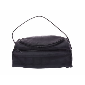 Chanel New Travel Line Vanity Bag Black Ladies Nylon A Rank Beauty Item CHANEL Galler Used Ginza