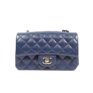 Chanel CHANEL Mini Matrasse Chain Shoulder Bag Caviar Skin Navy Silver Hardware