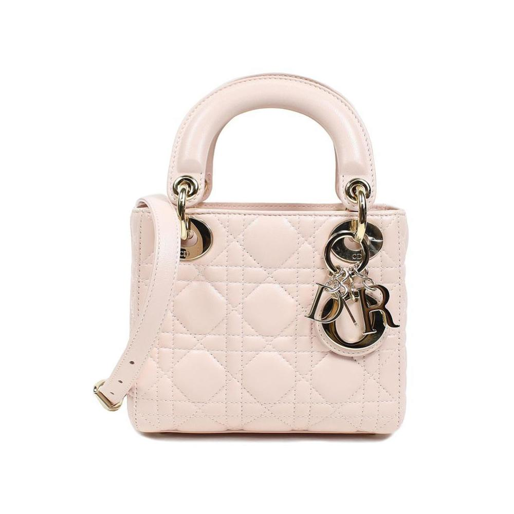 Christian Dior Lady Mini Shoulder Bag CAL 44500 Shiny Pink Women s 28548009bc