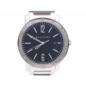 ブルガリ ブルガリブルガリ 黒文字盤 BB41S メンズ SS クオーツ 腕時計 Aランク BVLGARI 内箱 ギャラ 中古 銀蔵