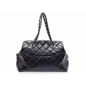 Chanel Matrasse Chain Shoulder Bag Black Ladies Vinyl AB Rank CHANEL Used Ginza